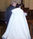 Cape en fourrure blanche - Occasion du Mariage