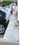 Robe de mariée Lise Saint Germain avec boléro, étole, jupon, voile et chaussures