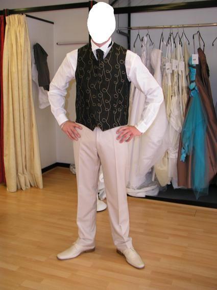 Costume de marié d'occasion avec chemise et gilet de mariage