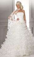 Robe hervé mariage Légère Taille 36 - Occasion du Mariage
