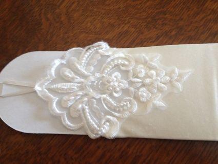 Gants de mariée / mitaines de mariage neuves pas cher - Occasion du Mariage