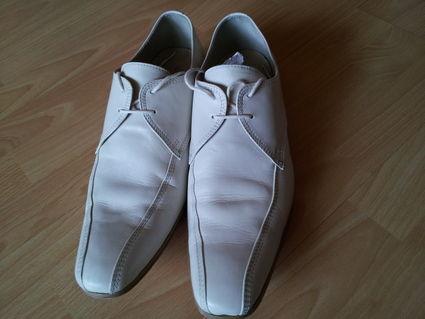 Chaussure de marié ivoire taille 45 d'occasion