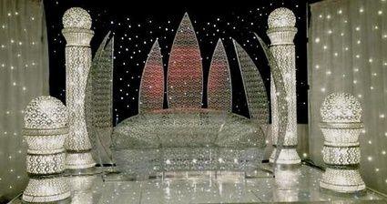 dcoration de salle de mariage voilage trne etc - Location Trone Mariage Pas Cher