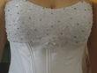Robe bustier de mariée blanche Hervé mariage neuve