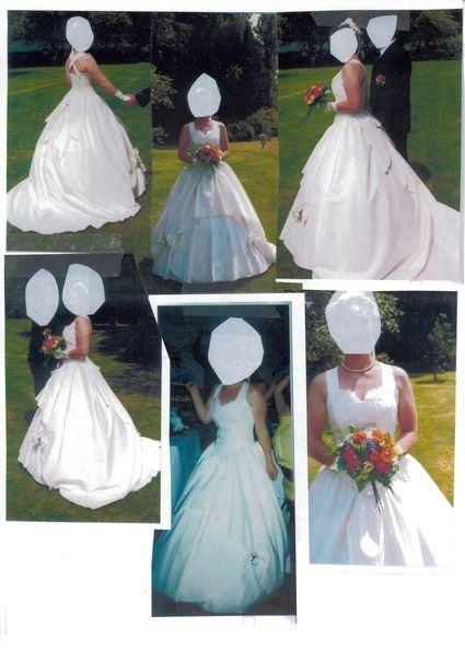 Robe de mariée sobre et élégante d'occasion couleur ivoire T38-40