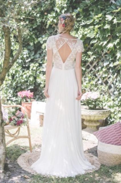 Robe de mariée Bohème Elsa Gary - Calvados