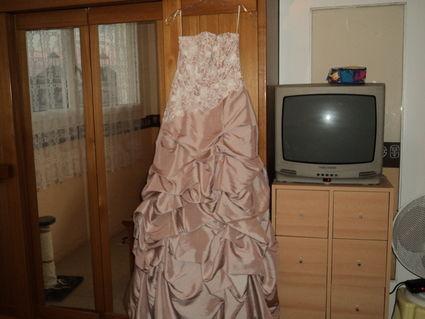 Robe de mariée bustier T40 pas cher 2012 - Occasion du Mariage