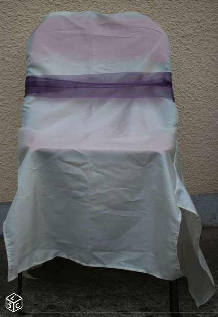 Housse de chaises noeud ile et vilaine - Housse chaise mariage occasion ...