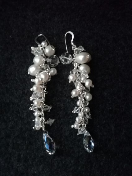 Boucles d'oreilles perles et cristaux swarovski - Eure