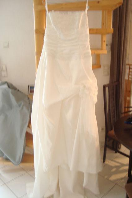 Robe de Mariée marque Complicité Collection IllI TULLE Taille 50 + Jupon d'occasion