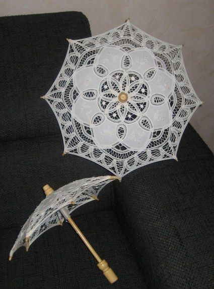 Ombrelle de mariée blanche d'occasion