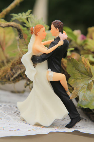 Figurine couple Tango en déco de table de mariage