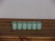 Lot de12 bougies couleur vert d'eau - Occasion du Mariage