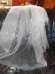 Voile perles et plumes - Occasion du Mariage