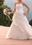 Robe de mariée blanche coupe princesse - Occasion du Mariage
