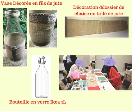 Décoration de table et salle champêtre à Montpellier - Hérault