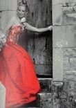 Magnifique robe de mariée pas cher soie rouge Rhône-Alpes 2012 - Occasion du Mariage