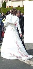 Robe de Mariée Point Mariage T40 et ses accessoires, jupon et boléro