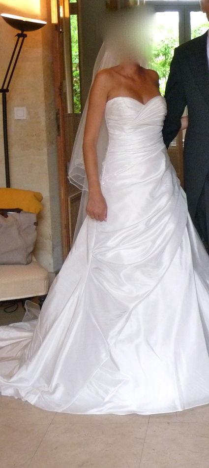 Robe de mariée bustier de créatrice couleur ivoire d'occasion en 2013