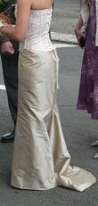 Jupe en soie sauvage et bustier en dentelle - Occasion du Mariage