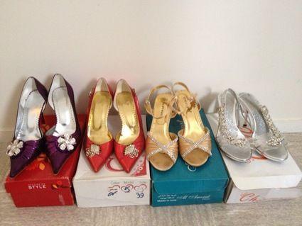 Lot de chaussure de coktail, mariage, soirée d'occasion