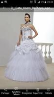 Robe de mariée blanche avec strass - Occasion du Mariage