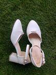 Chaussures de mariée blanche talon 4 cm - Occasion du Mariage