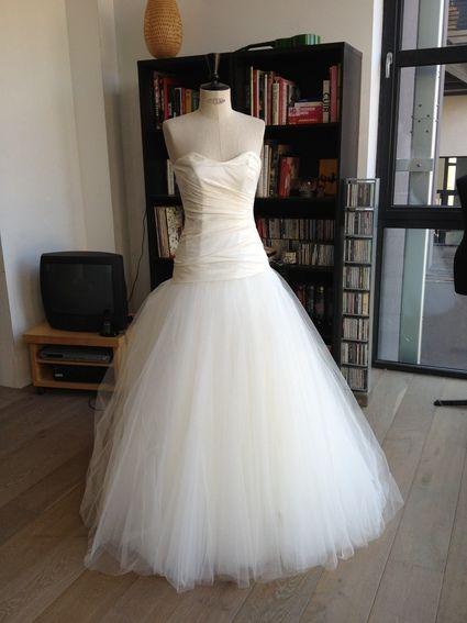 Robe de mariée neuve - promesse mariage lille - voile et jupon - Paris
