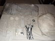 Robe de mariée noir et blanc d'occasion
