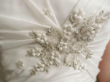 Robe de mariée neuve de créateur très glamour et raffinée à Paris