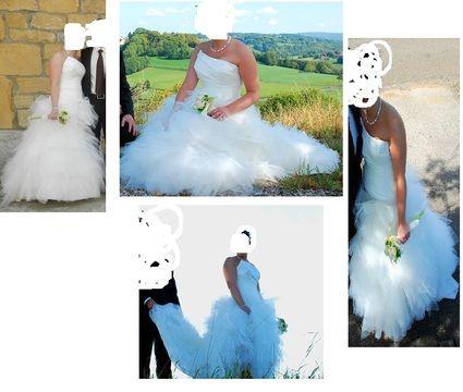 Robe de mariée Cymbeline Espera Taille 40 + jupon pas cher en 2012