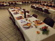 Décoration de table et salle tons prune et orange 2012- Occasion du Mariage