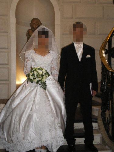 Robe de mariée pas cher en satin - Occasion du mariage