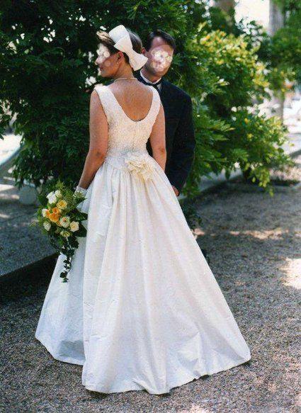 robe de mari e soie sauvage et dentelle de calais d 39 occasion