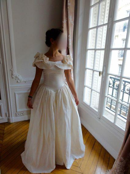 Robe de mariée vintage soie - romantique intemporelle - T38 - Paris