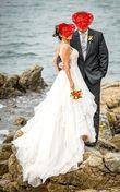 Robe de mariée luxe T38, unique avec traîne rétractable - Occasion du Mariage