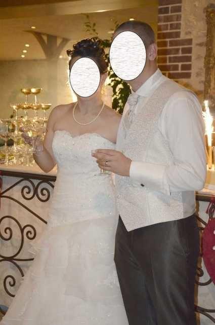 Robe de mariée ivoire taille 38-40 d'occasion - Rhin (Haut)
