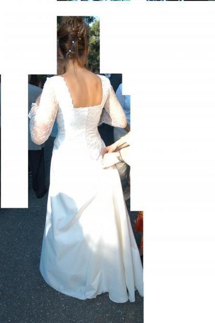 Robe de mariée bustier blanc écru pas cher 2012 - Occasion du mariage