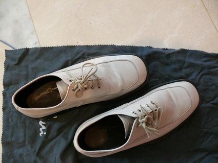 Chaussure de marié couleur ivoire taille 39 d'occasion