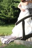 robe de mariée ivoire et taupe  - Occasion du Mariage