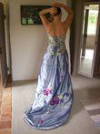 Robe de mariée en soie bleue - Occasion du Mariage
