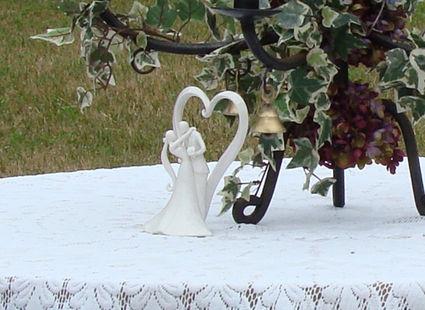 Figurine Couple et Coeur en décoration de mariage
