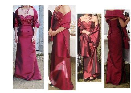Robe de mariée et son étole taille 38/40 d'occasion