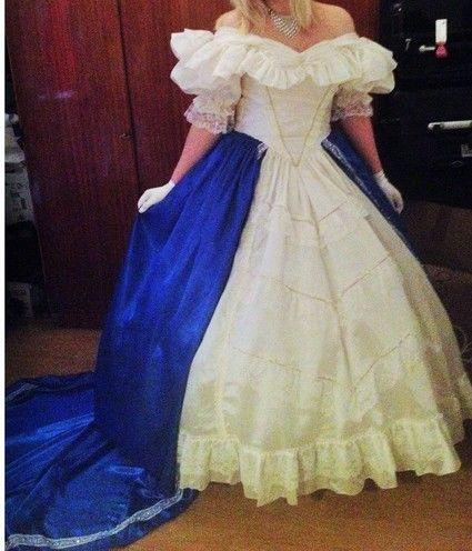belle robe de bal ou mari e style princesse sissi cher. Black Bedroom Furniture Sets. Home Design Ideas