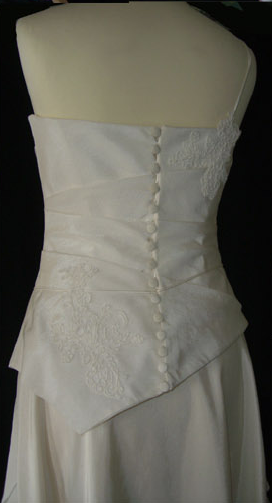Robe de mariée pas cher en doupion, Lambert créations - Occasion du Mariage