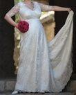 Robe de mariée en soie et dentelle faite sur mesure