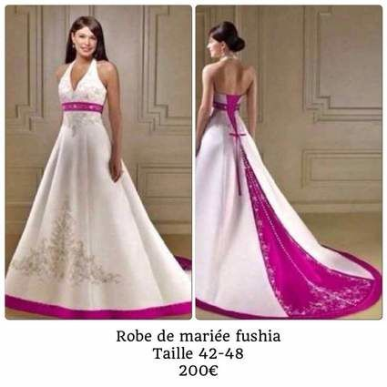 robe de mariée fushia - Seine Saint Denis