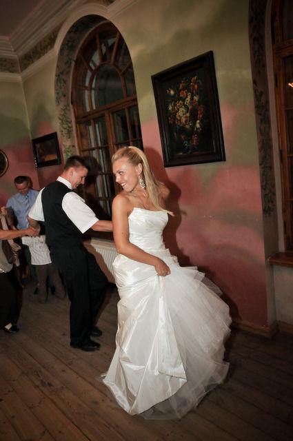 Robe de mariée bustier Cymbeline d'occasion avec voile Graziella