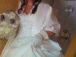 Robe de Mariée ivoire avec jupon, chaussure, étole et pochette pas cher