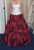 robe de mariée bustier brodée de perles - Occasion du Mariage